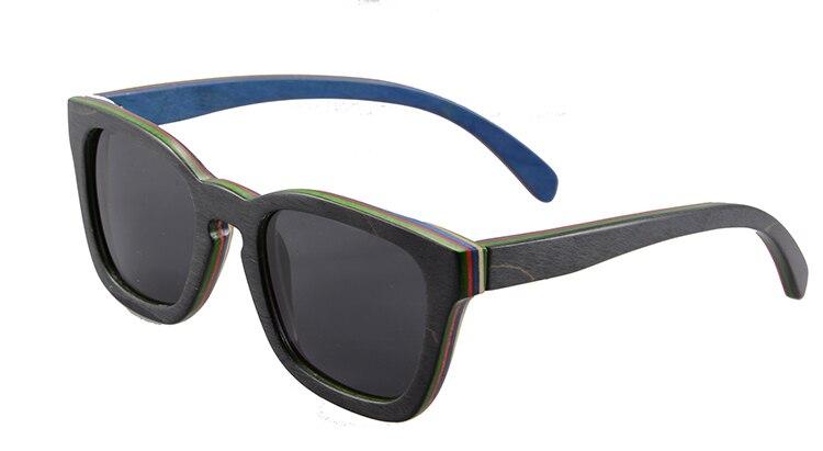 So Real Hand Polished Skateboard Wooden Frame Sunglasses Vintage Polarized Women Men Summer Eyewear Oculos De Sol 6028<br><br>Aliexpress
