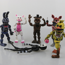 1 Pcs/set Lightening Movable joints Five Nights At Freddy's Action Figure Toys Foxy Freddy Chica PVC Model Dolls With kids toys