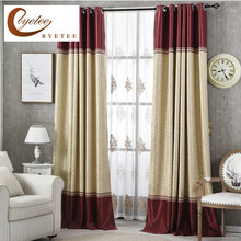 {Byetee} Ready Made Curtain Stripe Bedroom Curtain Door Window Screening Blackout Kitchen Curtains For Living Room Drapes(China)