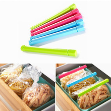 NEW 6 Pcs/Lot Stable Food Snack Bag Clip Fresh Keeping Sealing Clips Seal Clamp Sealer Strong Kitchen Storage Helper Food Savers