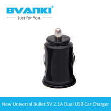 [Bvanki Car Charger] 50Pcs/Lot best selling products round 2 usb car Cigarette lighter usb charger qc 2.0 car charger adapter
