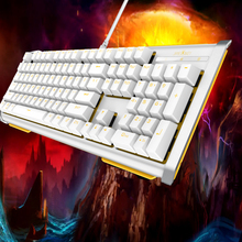 Ergonomic USB Wired Keybord 104 Key Anti-ghosting Mechanical Keyboards Gaming Keyboard with Backlit for Gamer PC Laptop Computer