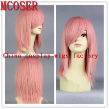 MCOSER Cosplay Anime 40CM Short Straight Pink Synthetic Hair Lolita Full Wpmen's Party Lolita Full Wig