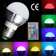 4 Mode 12Colors Wireless Remote E27 3W RGB LED Magic Lighting Globe Bulb Lamp IR Remoter Controller Flash Strobe Fade Smooth(China)