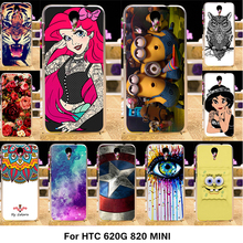 Painted Phone Cover Cases For HTC Desire 620G 820 Mini D820mu Dual Sim 820mini 620 G Case Cover Hard Plastic Soft Silicone Shell