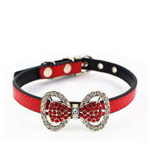 Pets Supplies Collars for Cats Dog Safety Unique New Leather Scarf Rhinestones Fashion Cat Products for Pets Dog Puppy