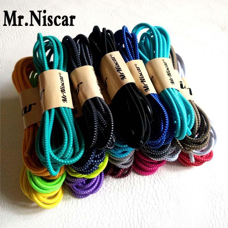 Mr.Niscar 5 Pair 100cm Fashion No Tie Locking Shoelaces Elastic shoelaces for Running Sneakers Children Safe Elastic Shoe Laces<br><br>Aliexpress