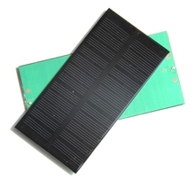 High Quality Mini 1W 6V Solar Panel Solar Cell DIY Panel Monocrystalline Solar Cell Panel 125*63*3MM10pcs/lot Free Shipping