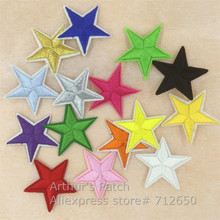 New arrival 10 pcs little star Embroidered patches iron on cartoon Motif Applique hat bag garment embroidery accessory 15 colors
