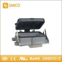 SMICO H48B-ST-CV-1L heavy duty connector Al-alloy Die-cast Material top entry hood with UL certificate(China)