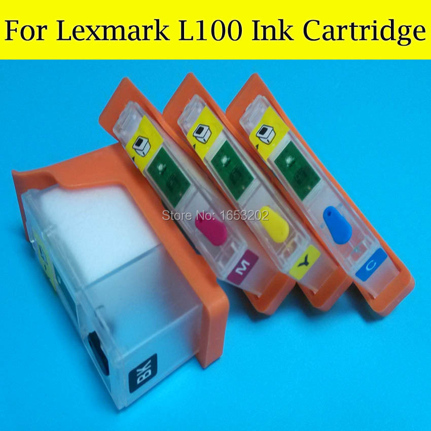 5 Sets/Lot L100 Ink Cartridge For Lexmark S305 S405 S505 S605 S308 S408 S508 S608 PRO205 PRO208 PRO209 printers<br><br>Aliexpress
