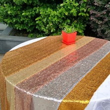 For Wedding Event Party Banquet Christmas Table Runners for Wedding Decoraiton 30 *180/ 275cm Silver Gold Sequin Table Runner(China)