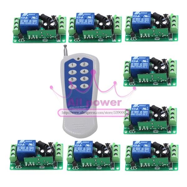 Wireless Remote Control Switch RF Remote plug Remote Switches 8ch Remote Controller + receiver<br><br>Aliexpress