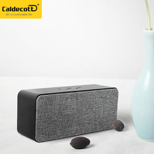 Cloth Design V4.1 Bluetooth Speakers Portable Wireless Outdoor Subwoofer with Surround Stereo Bass Super Loud Sound for Home TV