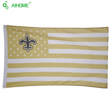3x5FT New Orleans Saints With Stars And Stripes Banner Flag 90x150cm USA Football Support Banners
