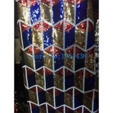 Buy 2017 latest Fashion African Lace Fabric High-end Sequins / French Gold Red Royal blue Sequins Net Lace wedding Dress for $59.93 in AliExpress store