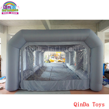7*4*2.5m inflatable portable car spray paint booth design with filter, mobile station car painting room for sale