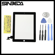 Sibeda Black or White Touch Screen Glass Panel Digitizer Replacement for iPad 2 A1395 A1396 A1397 Touch Screen Replacement(China)