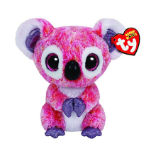 "Pyoopeo Original 6"" 15 cm TY Beanie Boos Kacey The Pink Koala Stuffed Plush Doll Toy Collectible Big Eyes Owl Dolls Toys"
