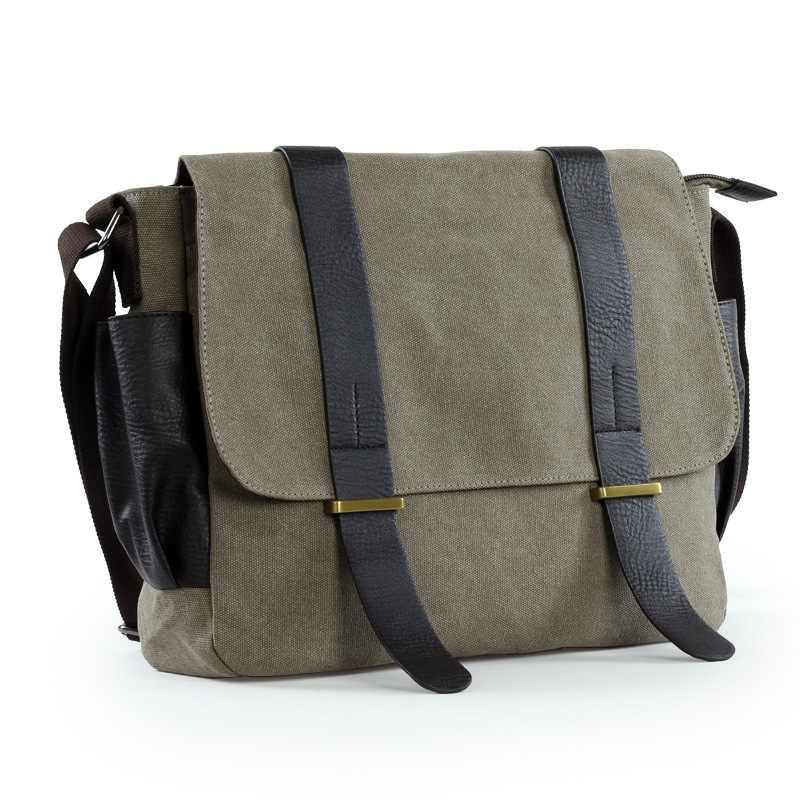 fabf214941ae 2019 холщовая кожаная сумка через плечо винтажная сумка-мессенджер большая  сумка через плечо дорожные сумки