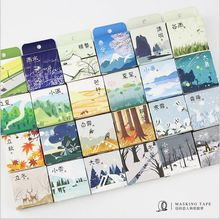 Chinese Four Season 24 solar terms Weather Calendar Washi Tape DIY Diary Decoration Planner Scrapbook Sticker Label Masking Tape(China)
