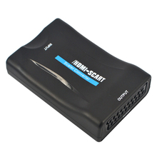 Hot Selling Full HD HDMI To Scart Converter Box AV Signal Adapter HD Receiver For Phone TV Support Hdmi 1080p For TV