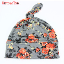 2016 Spring Autumn Flower print Cotton Baby Hat Girls Boys beanie Toddler Infant Kids Caps Lovely bonnet Accessories