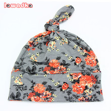 2016 Spring Autumn Flower print Cotton Baby Hat Girls Boys beanie Toddler Infant Kids Caps Lovely bonnet Accessories(China)