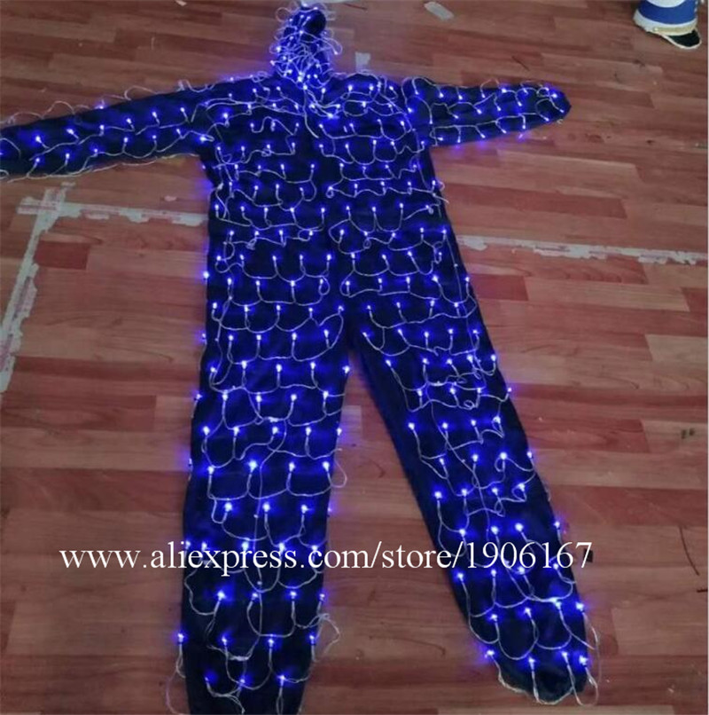 Colorful led luminous robot suit stage perfromance costume04