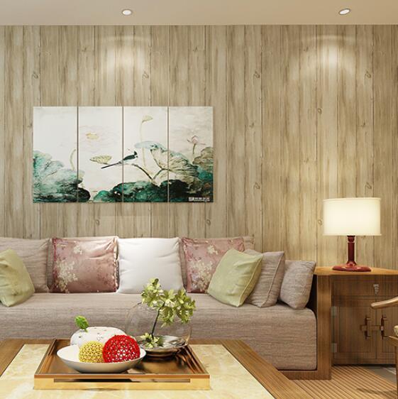 beibehang Modern papel de parede 3d style Wallpaper Vintage Striped Wood Panel Non woven Wall paper Decor papel de parede<br>