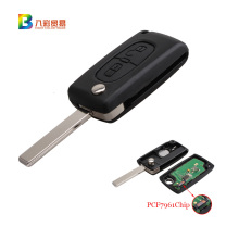 FGHGF 2Buttons 433MHz PCF7961 Transponder Chip Remote Fob Key For Peugeot 207 307 308 407 Keyless Entry Fob Car Alarm HU83 Blade