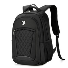 "Men grid Backpack Business Oxford 15.6"" Men Laptop Bag Large Capacity New Travel Backpack College Waterproof Student School Bags(China)"
