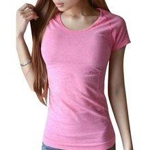 Women Girls Top Shirts Fitness Short Sleeve Breathable Casual T-shirt Tee(China)