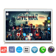 New 10 inch Octa Core 3G Tablet Android 5.1 RAM 4GB ROM 32GB 5.0MP Dual SIM Card Bluetooth GPS Tablets 10.1 inch tablet pc(China)