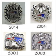 Factory direct sale Replica Super Bowl 4 Years Sets 2001/2003/2004/2014 New England Patriots Championship Rings sets(China)