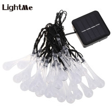 6.5M 30 LEDs Solar Lamps Water Drop Garden Decoration Lights Waterproof Fairy Lights Christmas Solar Led Tree Decorative Light