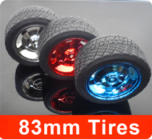 83mm Rubber Wheels / Tire, Intelligent Tracking Car Chassis DIY Robot Toy Car Accessories