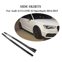 Buy Carbon Fiber Side Skirts Aprons Bumper Molding Trim Audi A3 S LINE S3 Sportback 4 Door 2014 2015 2PCS Car Accessories for $450.50 in AliExpress store