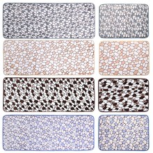 Bathroom Carpet Floormat Cobblestone Bathmat Carpet Doormat Floor Mat Blanket Balcony Kitchen Rugs Carpet Coral Velvet Anti-Slip