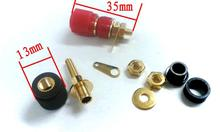 50 PCS brass Gold plated Binding Post Speaker Terminal for 4mm Banana plug