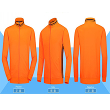 Brilliance Orange Men's Youth Trainning Sports Jackets Kids Customized LOGO Name Man Exercise Jackets Clothes Suit Free Shipping