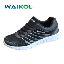 Waikol Lightweight Breathable Mesh Men Casual Shoes Promotional Discounts Male Shoes Plus Size(China)