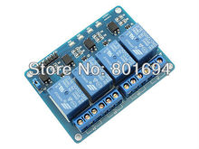 10 Pcs/Lot 12V 4-Channel Relay Module For Microcontroller 8051 AVR PIC DSP ARM