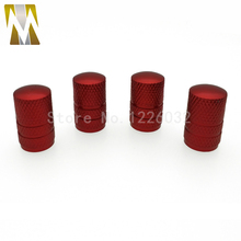 New Style 4 Pcs/lot Car Motor Bike NeoChrome Wheel Tire Air Stem Valve Cap Dust Cover Multi Red Gold Blue(China)