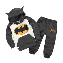 2017 New Fashion Batman Boys Girls Children Suits Sweater Pants Togteher A Set Autumn Winter Models Cartoon Modeling Clothes