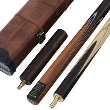 CUESOUL Classic Handmade 57 Inch 3/4 Piece Snooker Cue + Extension and Cue Case(China)