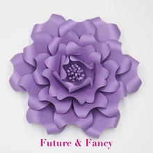 Buy Dark Purple 1 piece Giant Paper Flowers Nursery Wall Decor Wedding Party Decor Bridal Shower Baby Photo Backdrop Large Flowers for $11.04 in AliExpress store