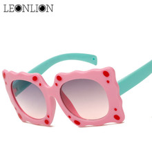 LeonLion 2017 Flowers Modeling Child Sunglasses Outdoor Candy Color Silica Gel Plastic Glasses UV400 Goggles Oculos De Sol(China)