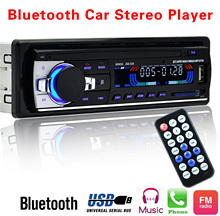 магнитола Автомагнитолы 12 В Bluetooth V2.0 JSD520 стерео в тире 1 Din FM Aux Вход приемник SD USB MP3 MMC WMA разъем ISO(China)