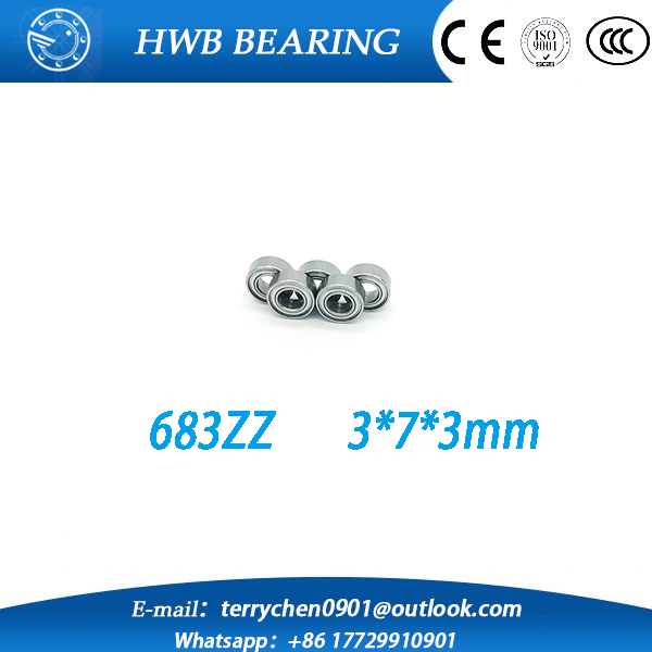 Free shipping 100 PCS 683zz 683 ZZ outer ring groove ball bearings 683Z (3 * 7 * 3mm) slotted bearing outer ring<br><br>Aliexpress